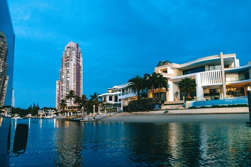 Aquaduck Gold Coast Sunset Cruise Mansion Tour