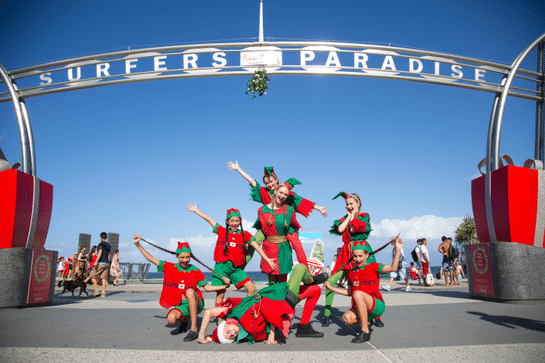 Christmas Elves in Surfers Paradise